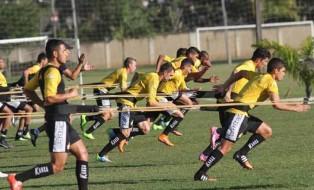 Atletas treinaram forte no CT. Foto: Fernando Ribeiro